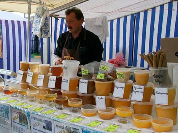 Продукты пчеловодства можно приобрести на специализированных ярмарках