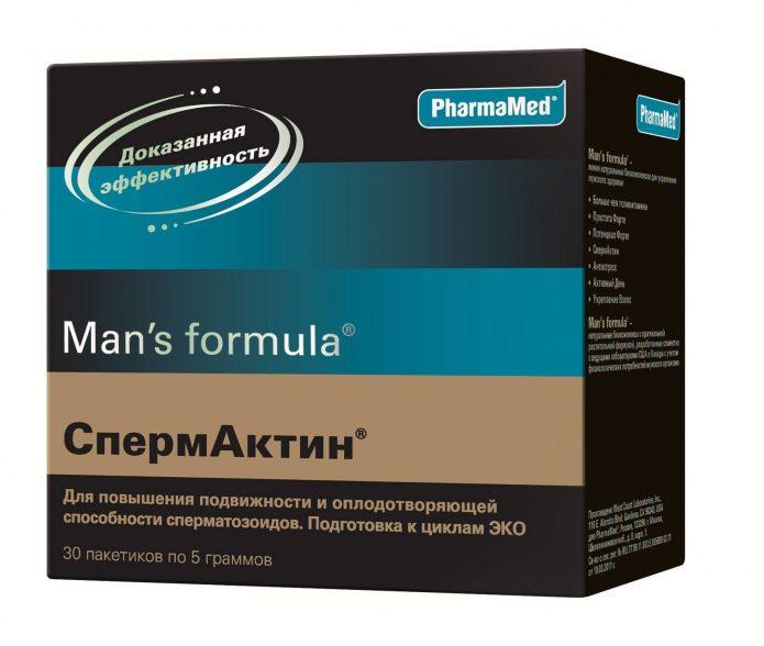Препарат Спермактин в коробке