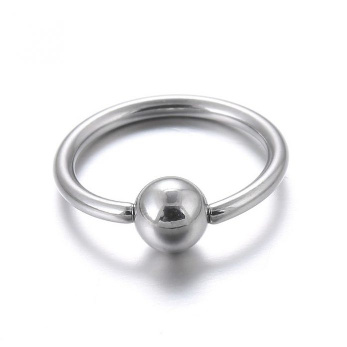 Кольца с застёжкой шариком